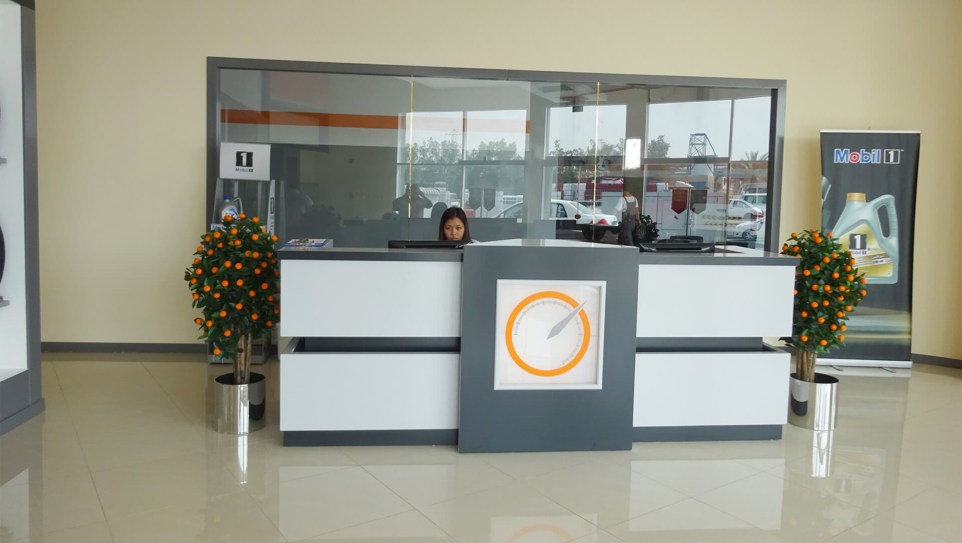 reception at orange auto dubai