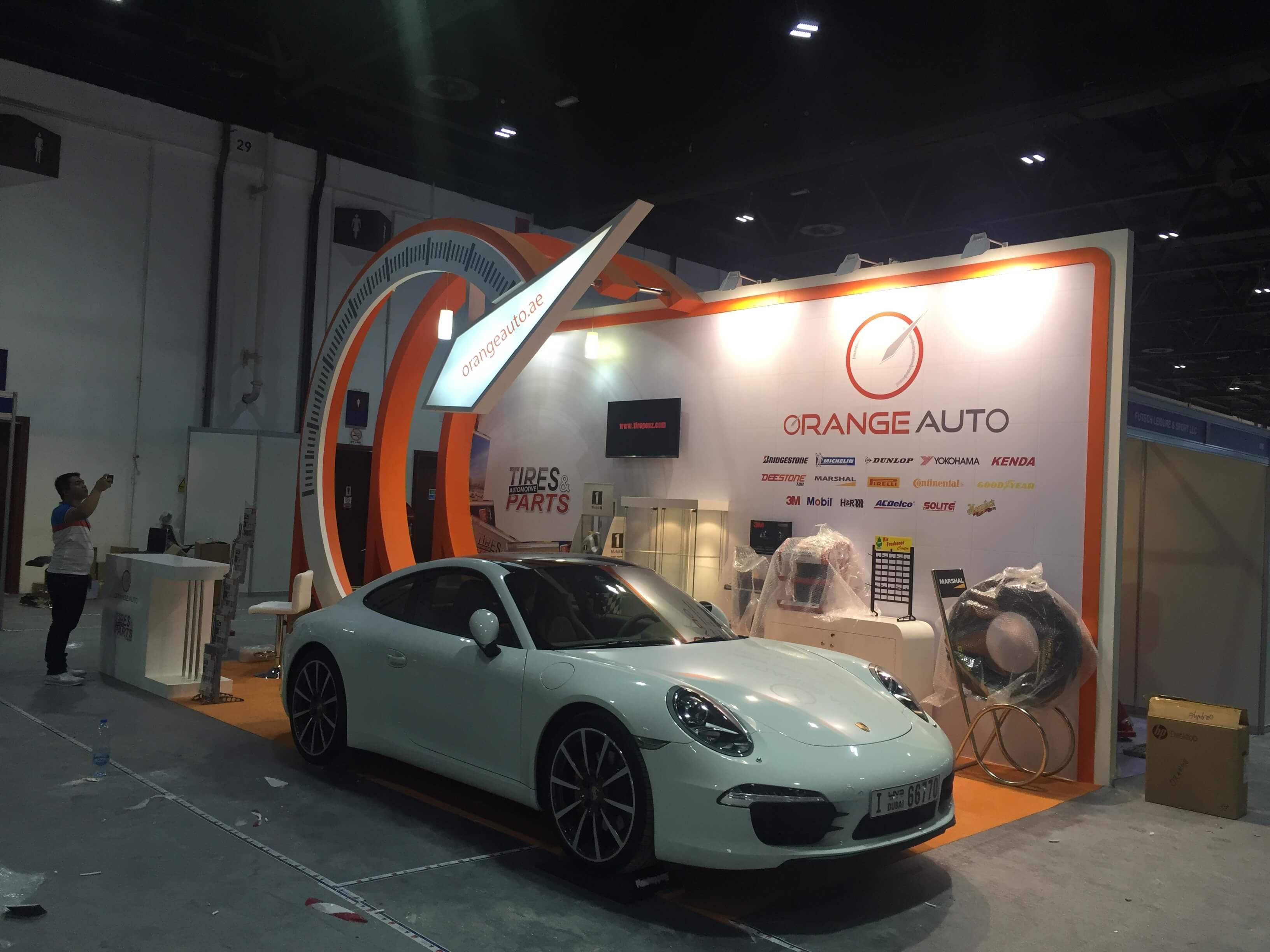 Orange auto at the Dubai Motorshow
