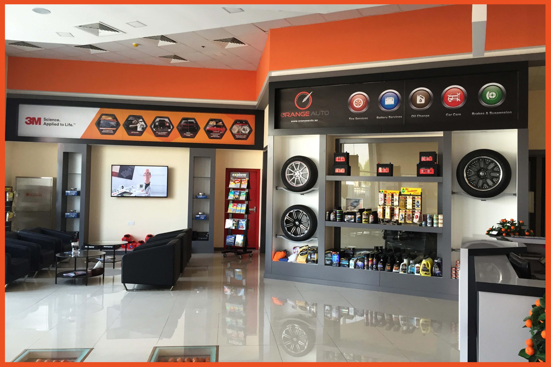 Orange Auto Lobby