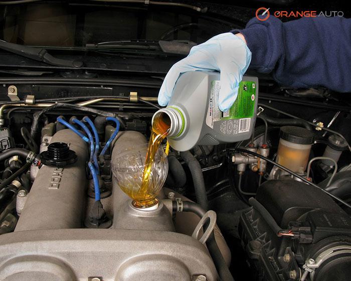 Engine Oil Check at Orange Auto