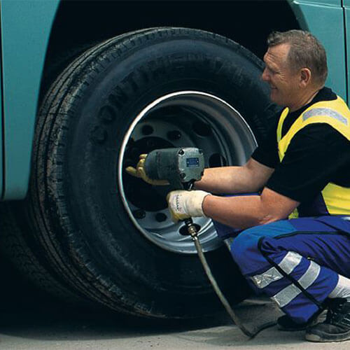 Bus Tire Change